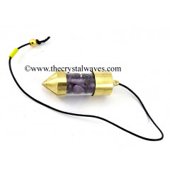 Amethyst Chips Bottle Pendulum