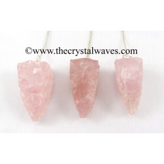 Rose  Quartz 4 Sided Hand Knapped Pendulum