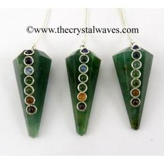 Green Aventurine Faceted Chakra Pendulum