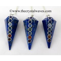 Lapis Lazuli  Faceted Chakra Pendulum