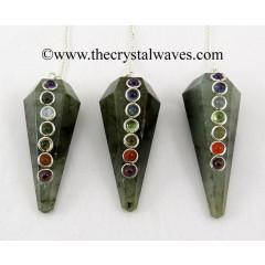 Labradorite  Faceted Chakra Pendulum