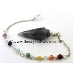 Iolite Smooth Pendulum With Chakra Chain