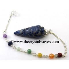 Sodalite Spiral Pendulum With Chakra Chain