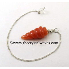 Red Aventurine Spiral pendulum