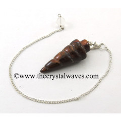 Red Tiger Eye Agate Spiral pendulum