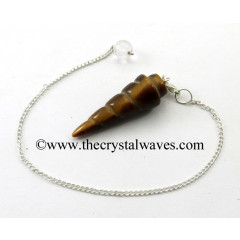 Yellow Tiger Eye Agate Spiral pendulum