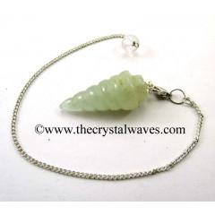 Green Aventurine Spiral pendulum