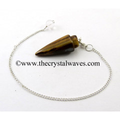 Yellow Tiger Eye Agate Smooth Pendulum