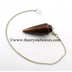 Red Tiger Eye Agate Smooth Pendulum