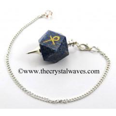 Lapis Lazuli Ankh Engraved Hexagonal Pendulum