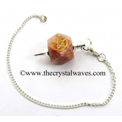 Sunstone Pentacle Engraved Hexagonal Pendulum