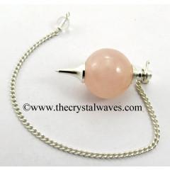 Rose Quartz Round Pendulum