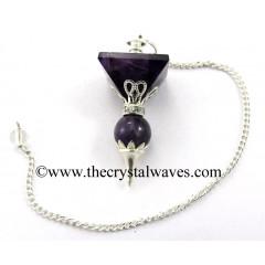 Amethyst 2 Pc Pyramid Ball Pendulum