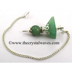Green Aventurine 2 Pc Pyramid Ball Pendulum