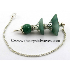 Green Aventurine 3 Pc Pyramid Ball Pendulum