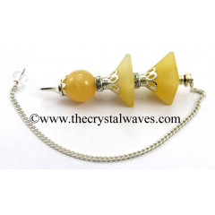Yellow Aventurine 3 Pc Pyramid Ball Pendulum
