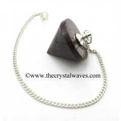 Red Tiger Eye Agate Conical Pendulum