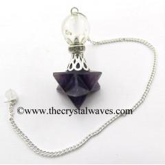 Amethyst Merkaba 2 Pc Pendulum