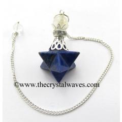Lapis Lazuli Merkaba 2 Pc Pendulum