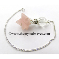 Rose Quartz Merkaba 2 Pc Pendulum
