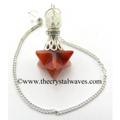 Red Aventurine Merkaba 2 Pc Pendulum
