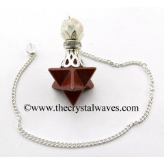 Red Jasper Merkaba 2 Pc Pendulum