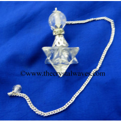 Crystal Quartz Merkaba 2 Pc Pendulum