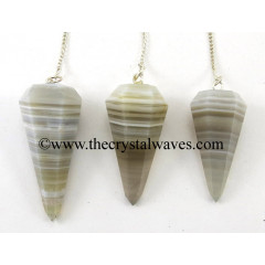 Lace Agate Faceted Pendulum