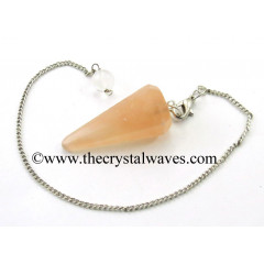 Orange Selenite Faceted Pendulum