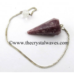 Lepidolite Faceted Pendulum