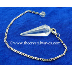 Crystal Quartz AA Garde Facted Pendulum
