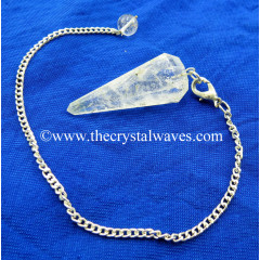 Crystal Quartz B Grade Faceted Pendulum