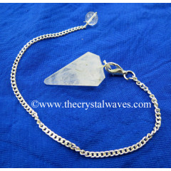 Crystal Quartz C Grade Faceted Pendulum