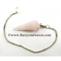 Rose Quartz Light Color Faceted Pendulum