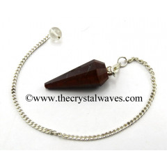 Red Tiger Eye Agate 12 Facets Pendulum