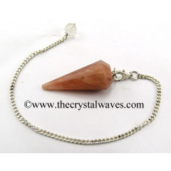 Peach Moonstone 12 Facets Pendulum
