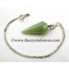 Green Aventurine (Light) 12 Facets Pendulum
