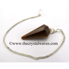 Tiger Eye Agate 12 Facets Pendulum