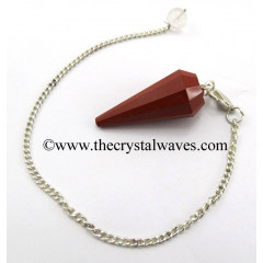 Red Jasper 12 Facets Pendulum