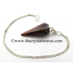 Red Tiger Eye Agate Facted Pendulum