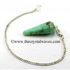 Chrysoprase Facted Pendulum