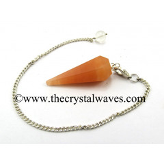 Red Aventurine Facted Pendulum