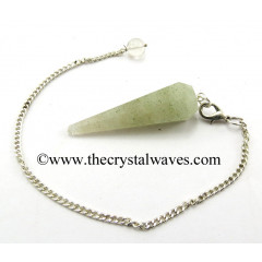 Prasiolite Facted Pendulum