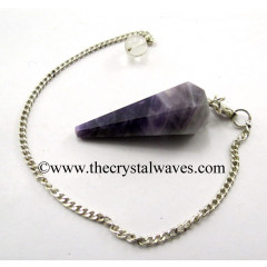 Chevron Amethyst Faceted Pendulum