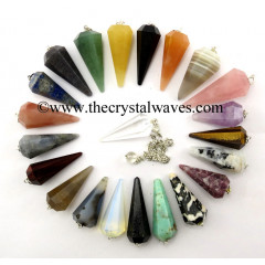 Mix Assorted Gemstone Faceted Pendulums