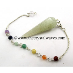 Prasiolite Faceted Pendulum With Chakra Chain