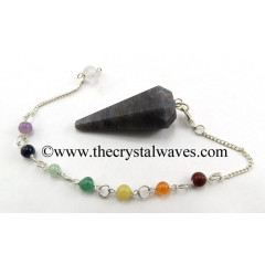 Blue Aventurine Faceted Pendulum With Chakra Chain