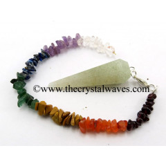 Prasiolite Faceted Pendulum With Chakra Chips Chain
