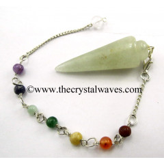 Prasiolite Smooth Pendulum With Chakra Chain