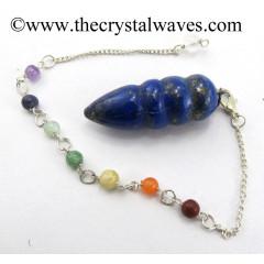 Lapis Lazuli Egyptian Style Pendulum With Chakra Chain